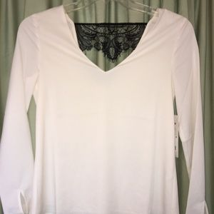 Cooper and Ella black and white lace top